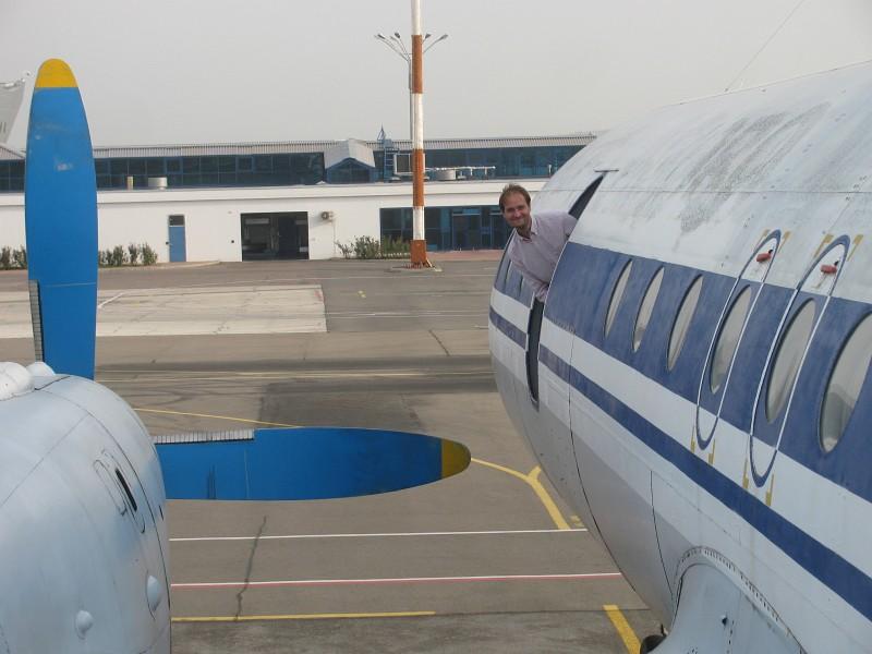 Chisinau Ilyushin 18 flight