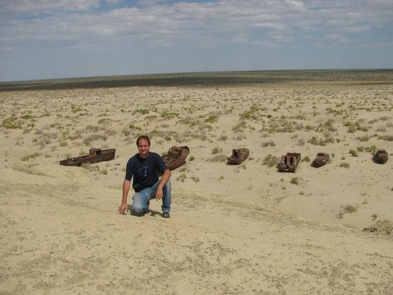 Moynaq Aral Lake derelict ships