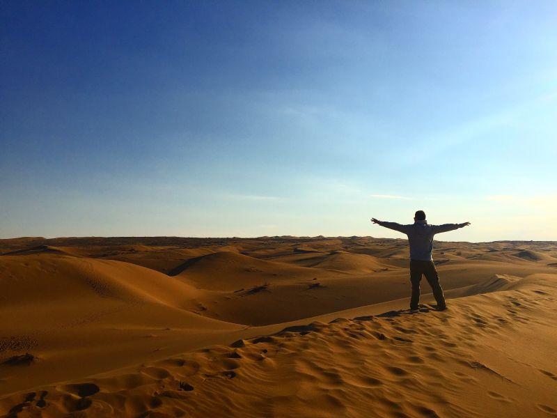Maranjab Desert in Iran